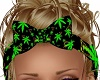 Trippy Weed Hair Bow