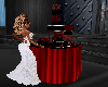 Black n Red Wedding cake