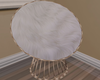 hWhite furry chair