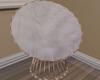 hWhite furry chair