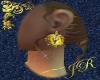 *JR Gold Horse Earring