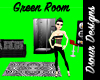 Green Screenshot Room