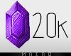 .20k Sticker.