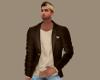 Brown Blazer Tan Shirt