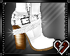 T White Ankle Boots