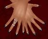 Black Sparkle Nails Med