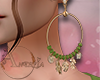 ~A~ Aura Earrings Green+