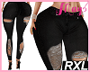 'Jeans Ripped BK RXL
