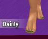 Dainty Feet Green Nails