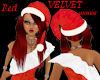 RED VELVET SANTABABY HAT
