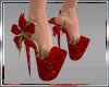 AS**CHRISTMAS RED  SHOES