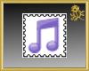 Purple Music Stamp