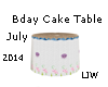 JW Bday July Cake Table
