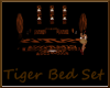 tiger print bed set