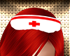 White/Red Nurse Hat