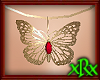 Butterfly Necklace Red