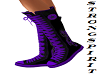 Purple + black converse