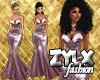 Mauve Glitter Gown
