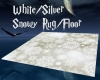 White-Silver Snowy Rug