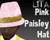 Pink Paisley Hat
