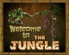 JUNGLE floor sign