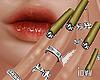 """Iv""""Nails/Rings Green"""