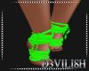 D- N/Green Feet Wraps