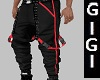 URBAN PANT RED BUCKLED