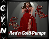 Red n Gold Pumps
