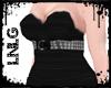 L:BBW Dress-PunkDiva Blk