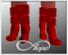Noelle Fur Boots Red
