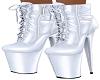 White Latex Yeniz Boots