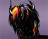 rainbow paint hair