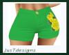 JT Green Rose Shorts