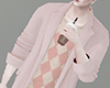 [NR]Pink Sweater Trench