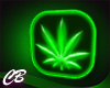 CB Marijuana Neon Light