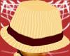 *E* Beige Pin Hat
