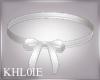 K white bow chocker