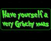 Grinch Badge Sticker