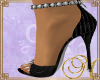 M Mambo BLK Silver Heels