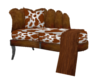 Cow themed chaise