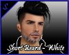 S. Short beard White