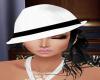 White Hat Black Hair