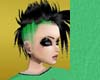 PUNK green and black