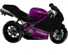 Purple Sport Bike