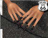 SD Black Red Web Nails