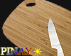 Chopping board & Knife