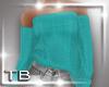 [TB] Casual Teal Sweater