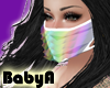 ! BA White Ruffle Mask