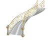 White/Gold Stairway